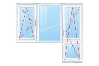Balkonska-vrata-plus-dvoen-prozorec-s-edno-otvariaemo-krilo