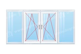 prozorec-chetvoren-s-dve-otvariaemi-krila-v-sredata
