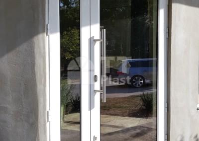 Дограма на магазин с врата от алуминий с прекъснат термичен мост